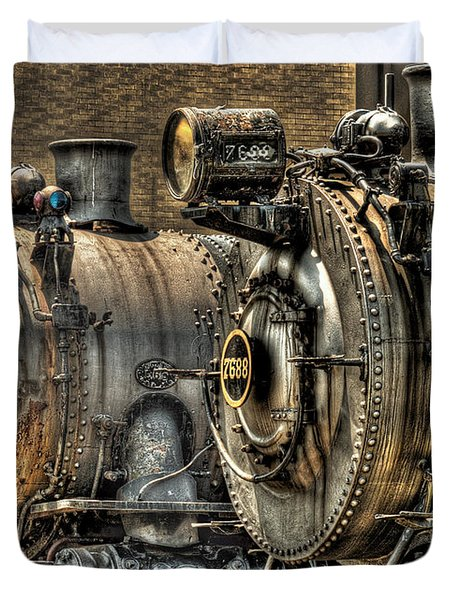 Train - Engine - Brothers Forever Duvet Cover by Mike Savad