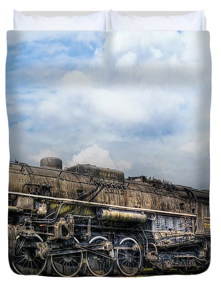 Train - Engine - Nickel Plate Road Duvet Cover by Mike Savad