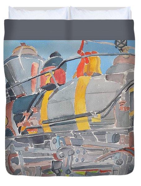 Train Engine Duvet Cover by Rodger Ellingson