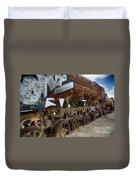Train Graveyard Uyuni Bolivia 14 Duvet Cover