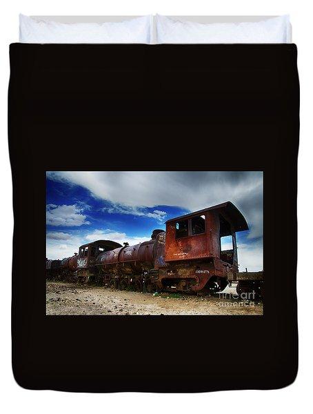 Train Graveyard Uyuni Bolivia 15 Duvet Cover