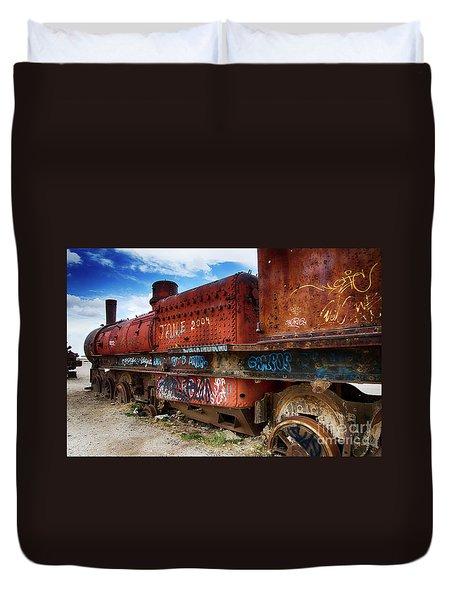 Train Graveyard Uyuni Bolivia 18 Duvet Cover