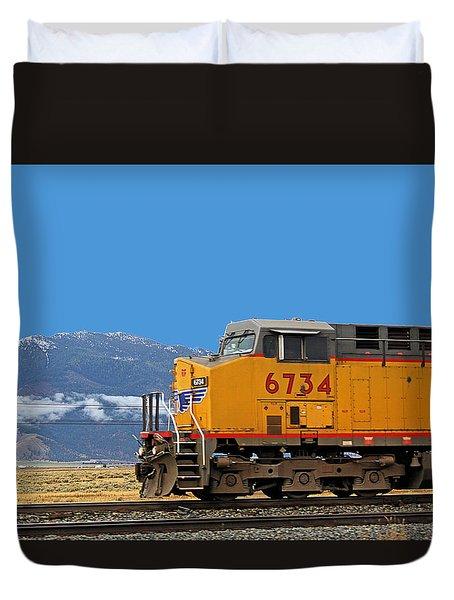 Train In Oregon Duvet Cover