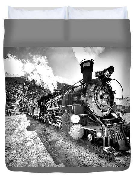 Train Nin Silverton Colorado Duvet Cover