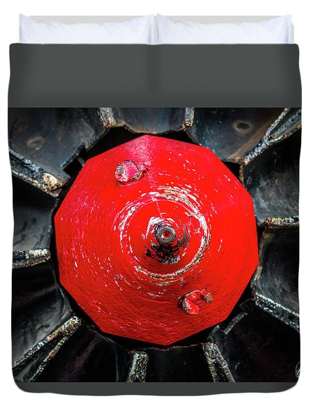 Train Prop Center Duvet Cover