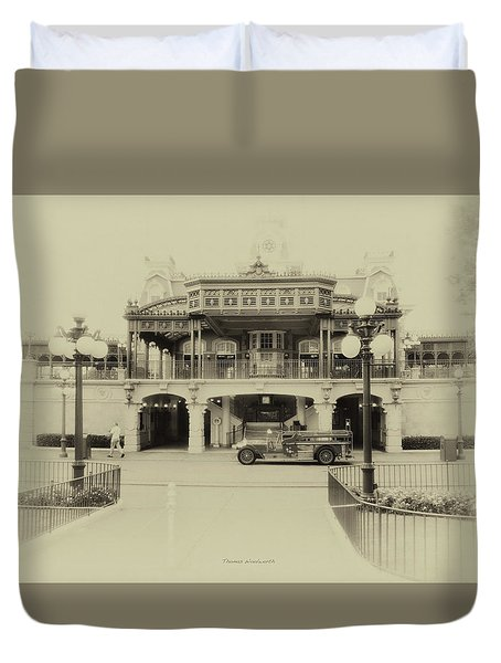 Train Statin Wdw In Heirloom Mp Duvet Cover