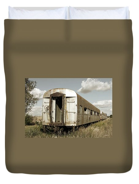 Train To Nowhere Duvet Cover