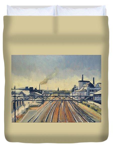 Train Tracks Maastricht Duvet Cover