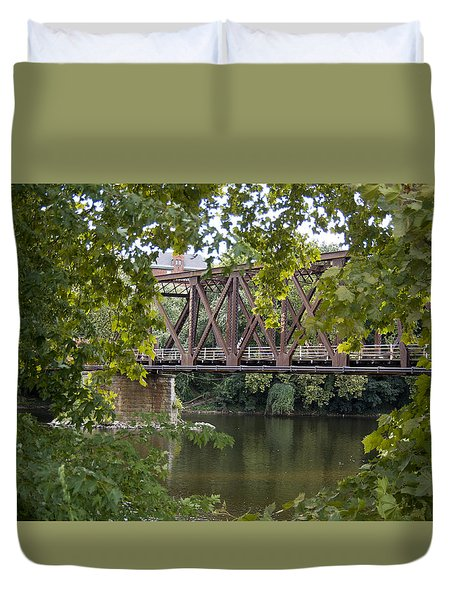 Train Trestle Duvet Cover by Michael Dorn
