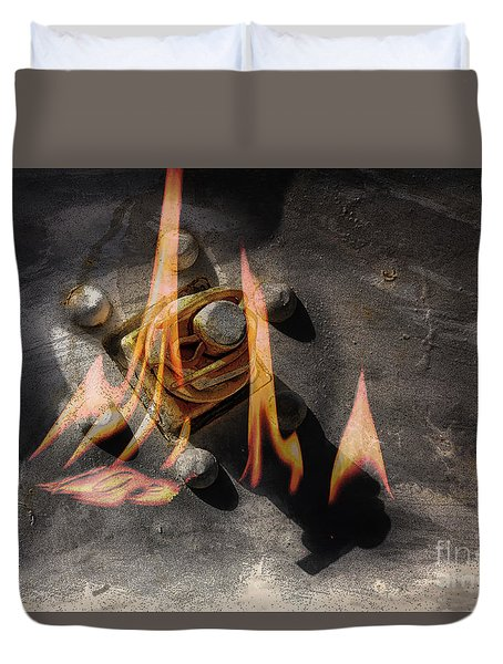 Train Wreck Duvet Cover