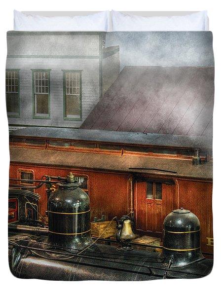 Train - Yard - The Train Yard II Duvet Cover by Mike Savad