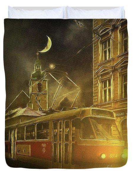 Tramatic - Prague Street Scene Duvet Cover