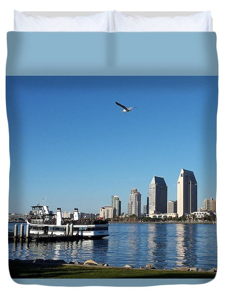 Tranquility By The Bay Duvet Cover