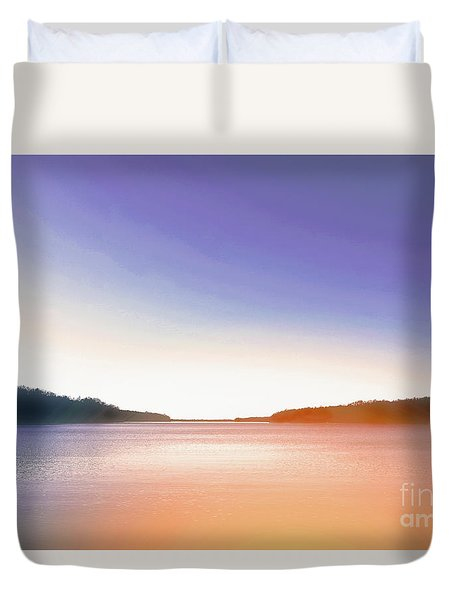 Tranquil Afternoon At The Lake Duvet Cover