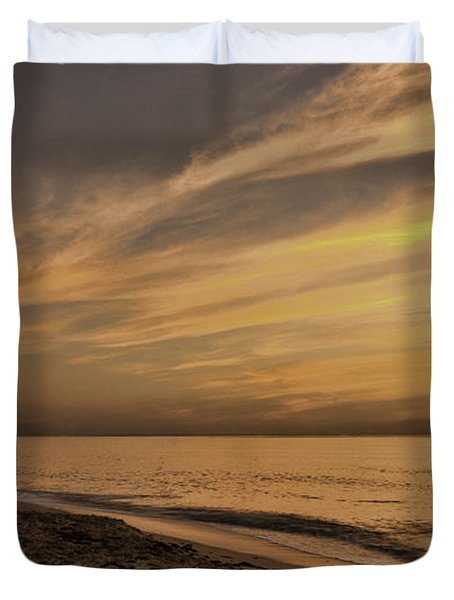 Duvet Cover featuring the photograph Tranquil Beach by Don Durfee