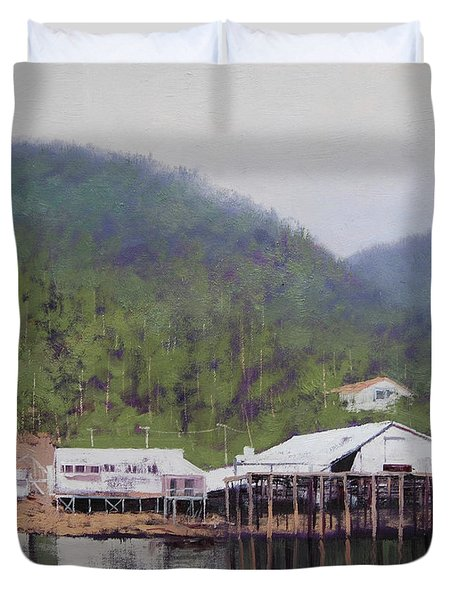 Tranquil Lake Canada Duvet Cover