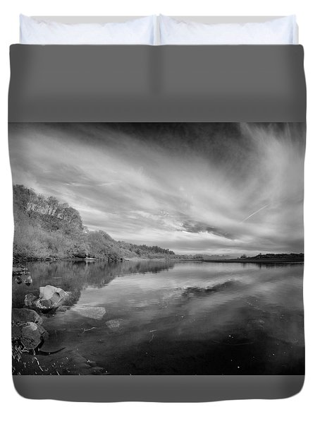 Tranquil Little River In Infrared Duvet Cover