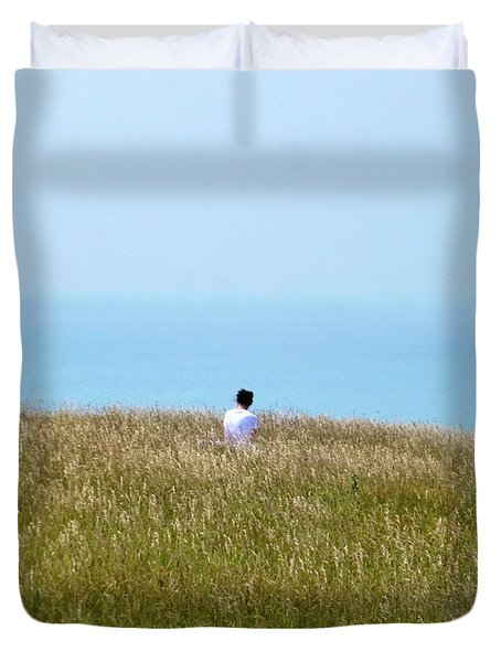 Duvet Cover featuring the digital art Tranquil Moment In Time by Francesca Mackenney