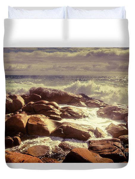 Tranquil Ocean Views Duvet Cover