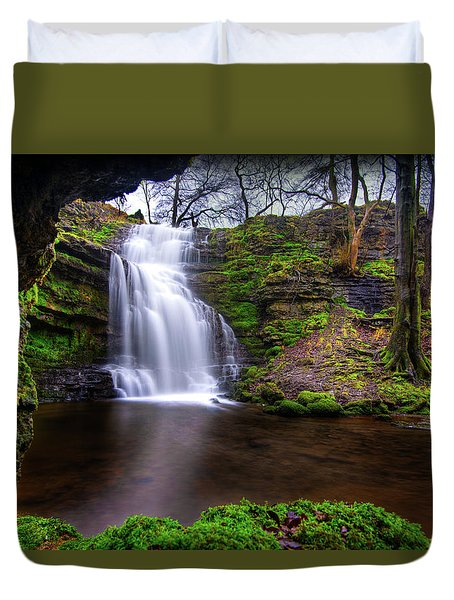 Tranquil Slow Soft Waterfall Duvet Cover