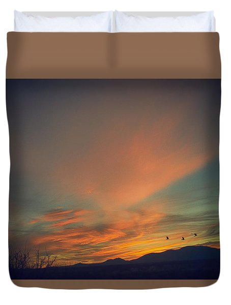 Tranquil Sunset Duvet Cover by Barbara Manis