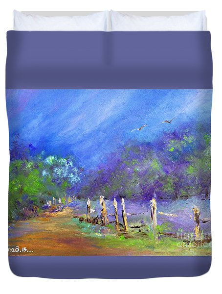 Tranquility Duvet Cover by AmaS Art