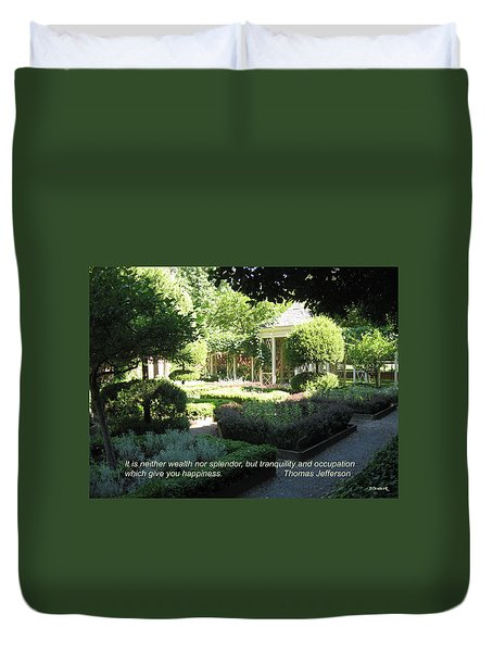 Tranquility And Occupation Duvet Cover