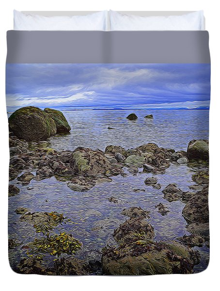 Tranquility At Low Tide Duvet Cover by Richard Farrington