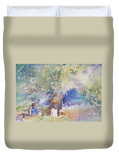Tranquility At The Brandywine River Duvet Cover