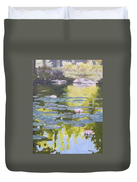 Tranquility IIi Furman University Duvet Cover