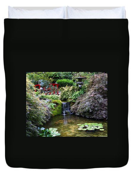 Tranquility In A Japanese Garden Duvet Cover