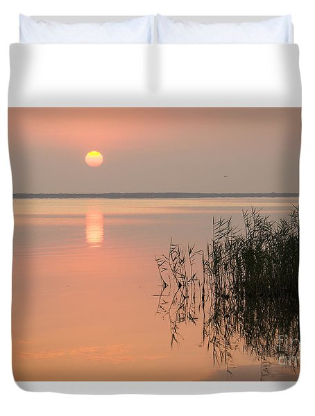 Duvet Cover featuring the photograph Tranquility by Inge Riis McDonald