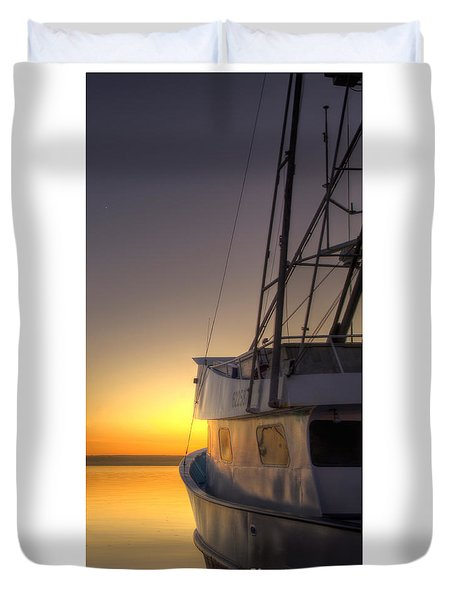 Tranquility On The Bay Duvet Cover