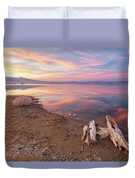 Duvet Cover featuring the photograph Tranquility by Tassanee Angiolillo