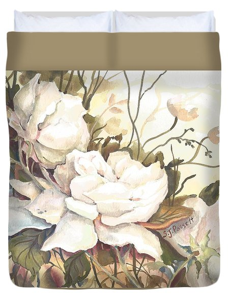 Tranquility Study In White Duvet Cover