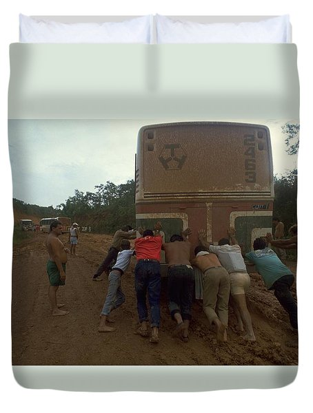 Duvet Cover featuring the photograph Trans Amazonian Highway, Brazil by Travel Pics