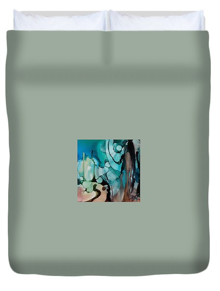 Transcendence Wth Goddess Duvet Cover by Suzanne Canner