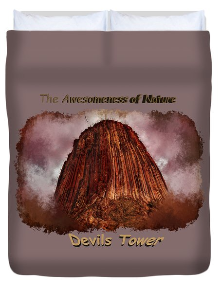 Transcendent Devils Tower 2 Duvet Cover