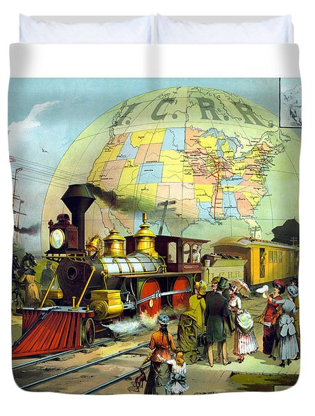 Transcontinental Railroad Duvet Cover