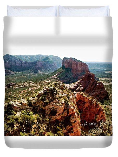 Transept Mountains 04-089 Duvet Cover by Scott McAllister