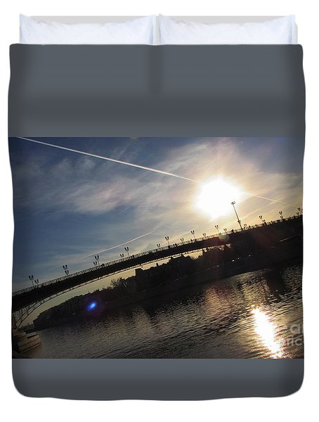 Transfix The Sun Duvet Cover by Anna Yurasovsky