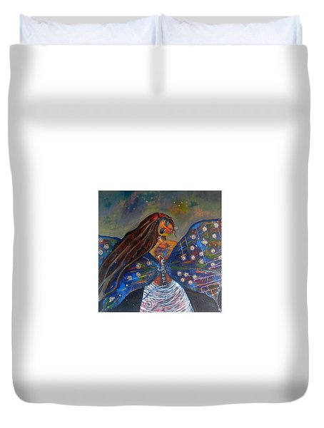 Duvet Cover featuring the painting Transform by Prerna Poojara