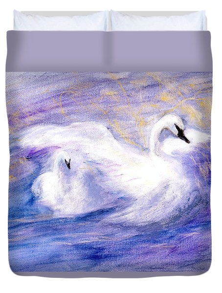 Duvet Cover featuring the painting Transformation by Gail Kirtz