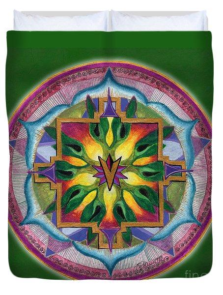 Transformation Mandala Duvet Cover