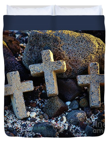 Duvet Cover featuring the photograph Transformed Beach Debris by Craig Wood