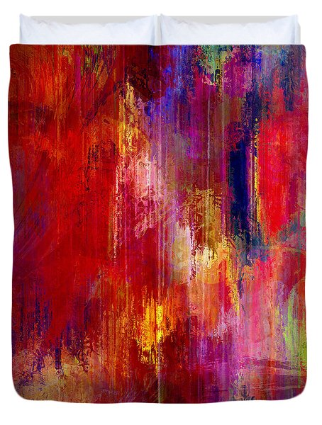 Transition - Abstract Art Duvet Cover