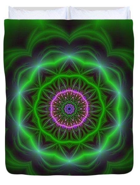 Duvet Cover featuring the digital art Transition Flower 10 Beats by Robert Thalmeier