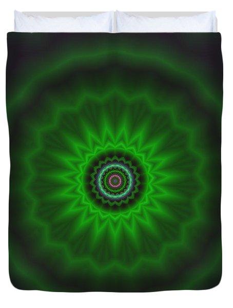 Duvet Cover featuring the digital art Transition Flower 2 by Robert Thalmeier