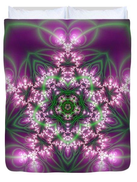 Transition Flower 5 Beats Duvet Cover by Robert Thalmeier