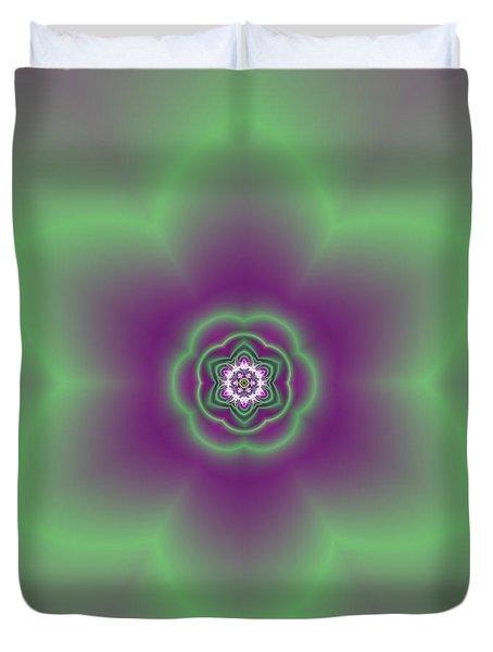 Transition Flower 6 Beats 2 Duvet Cover by Robert Thalmeier